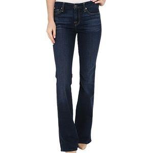 7FAM dark wash flared jeans